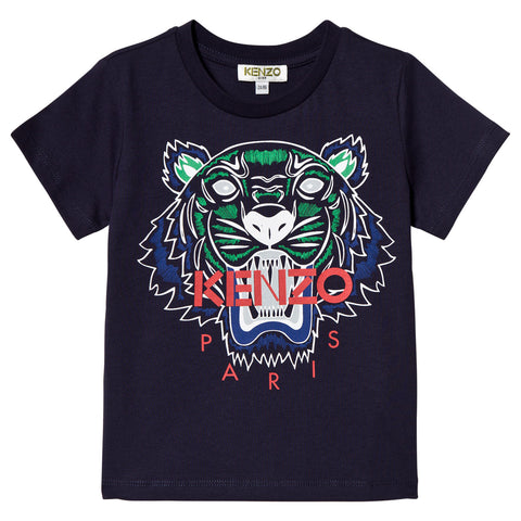 Blue Navy Tiger Print JB1 T-Shirt