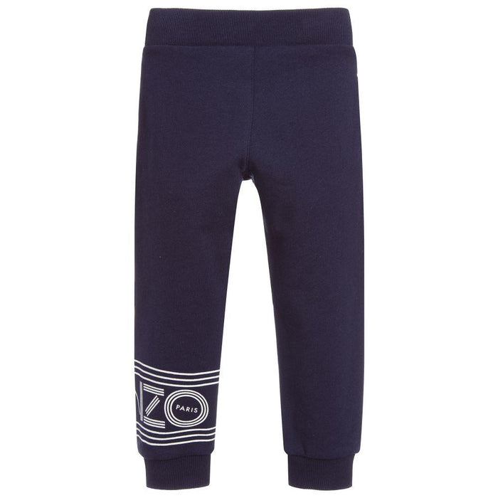 Kenzo - Boys Blue Cotton Logo Joggers - Kids clothing at BOYS & GIRLS ONLINE