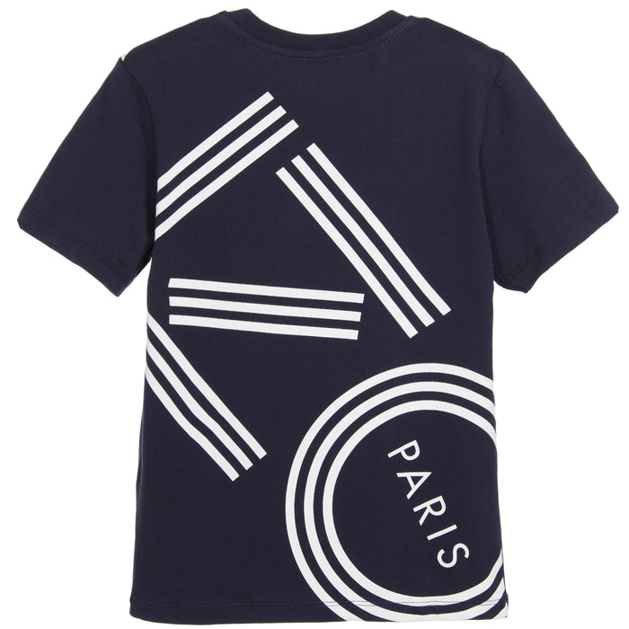 KENZO Boys Blue Logo T-Shirt at BOYS & GIRLS ONLINE