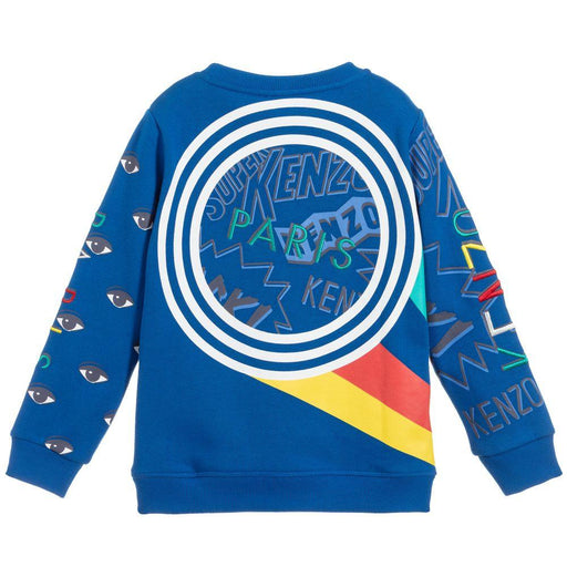Kenzo - Boys Electric Blue Cotton Sweatshirt - Kids clothing at BOYS & GIRLS ONLINE