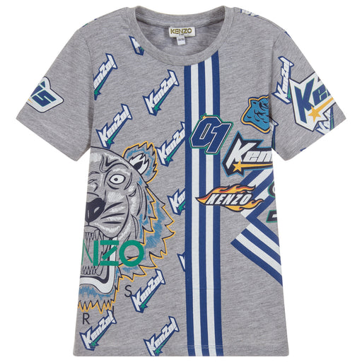 Boys Grey Cotton Frank T-Shirt