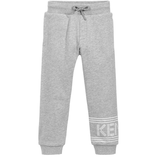Kenzo Boys Grey Cotton Joggers - Kids clothes online | BOYS & GIRLS ONLINE