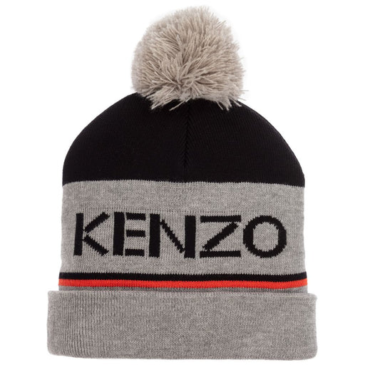 Boys Grey Cotton Knitted Hat
