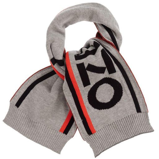 Boys Grey Knitted Cotton Scarf
