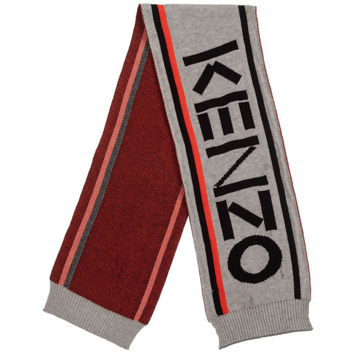 Kenzo - Boys Grey Knitted Cotton Scarf - Kids clothing at BOYS & GIRLS ONLINE