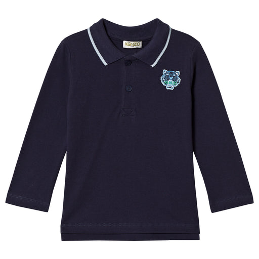 KENZO Boys TIGER Long Sleeve Polo Shirt at BOYS & GIRLS ONLINE