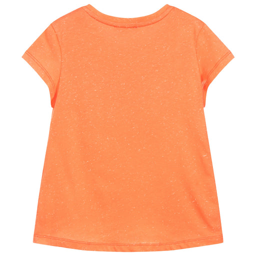 Girls Apricot Orange TIGER T-Shirt