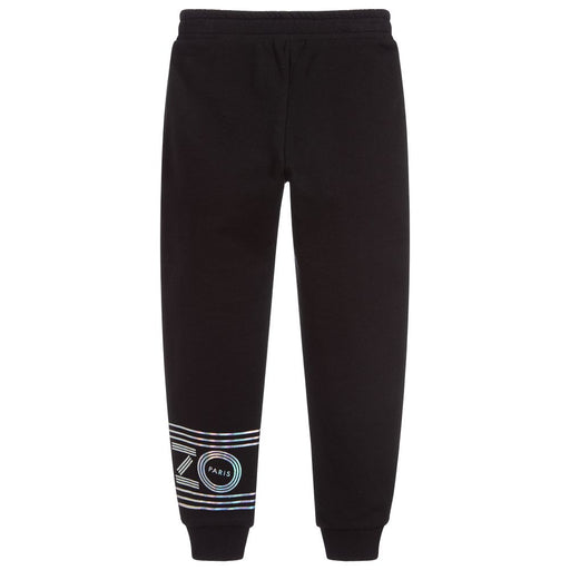 Girls Black Cotton Joggers