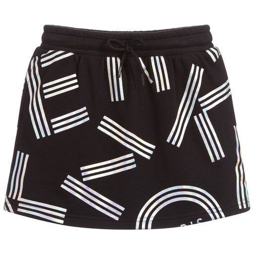 Girls Black Jersey Logo Skirt