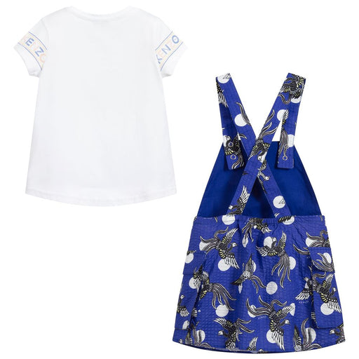 Kenzo-Girls Blue Cotton Pinafore & Top-boysgirlsonline.com