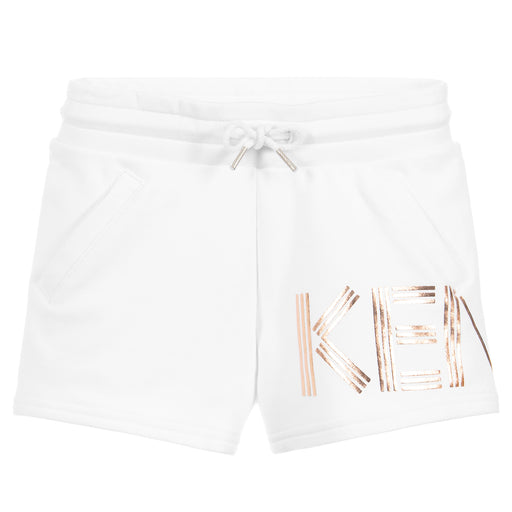 Girls Cotton Logo Shorts