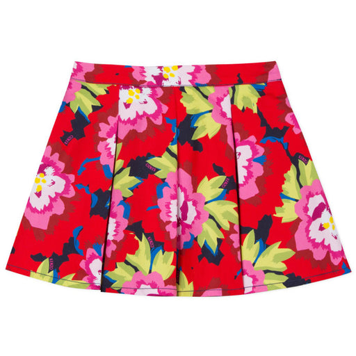 Kenzo-Girls Japanese Flower Navy Gigi Skirt-boysgirlsonline.com