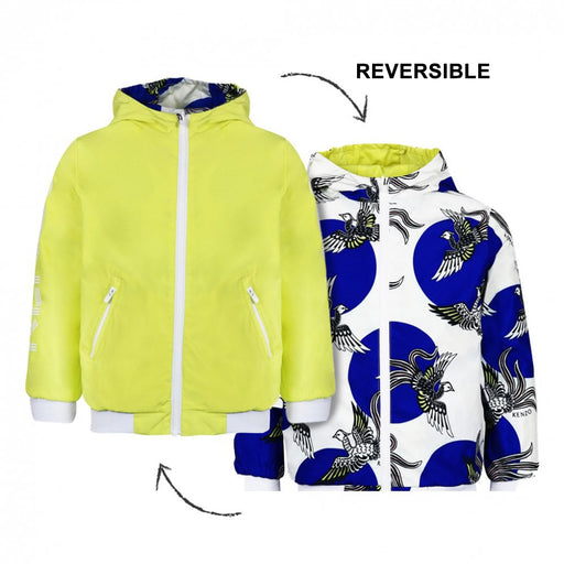 Kenzo-Girls Lemon Yellow and White Reversible Jacket-boysgirlsonline.com