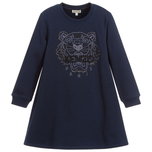Kenzo - Girls Navy Blue Tiger Dress - Kids clothing at BOYS & GIRLS ONLINE