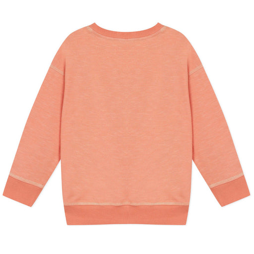 Kenzo-Girls Orange Elephant Cotton Sweatshirt-boysgirlsonline.com