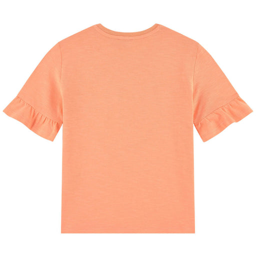 Kenzo-Girls Peach Orange Cotton Logo T-shirt-boysgirlsonline.com