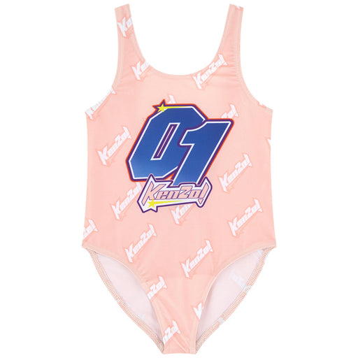 Kenzo Girls Pink Fideline Swimsuit - Kids clothes online | BOYS & GIRLS ONLINE