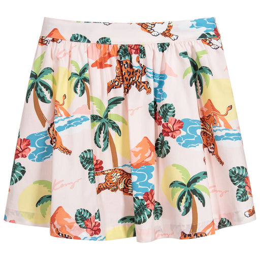 Girls Pink HAWAI Cotton Skirt