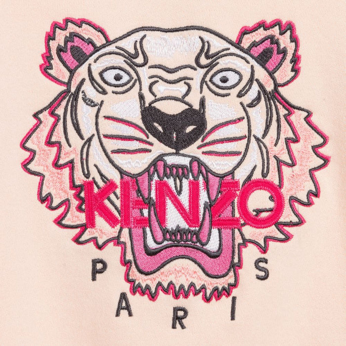 Kenzo - Girls Pink Tiger Sweatshirt - Kids clothing at BOYS & GIRLS ONLINE