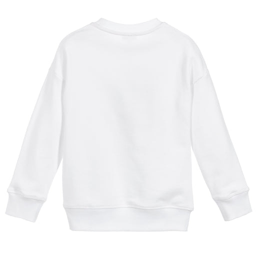 Kenzo-Girls White Cotton Phoenix Sweatshirt-boysgirlsonline.com