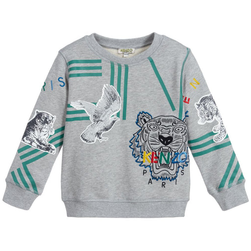 Good Grey Cotton Tiger Sweatshirt