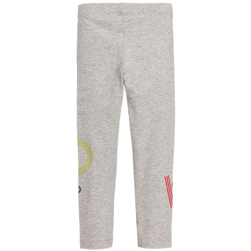 Grey Cotton Logo Leggings