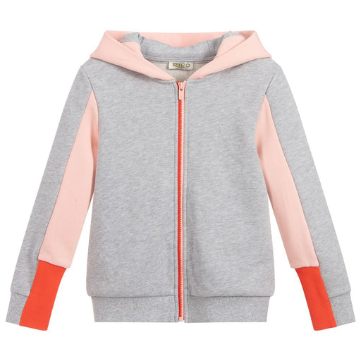 Gwendoline Girls Grey Cotton Zip-Up Top