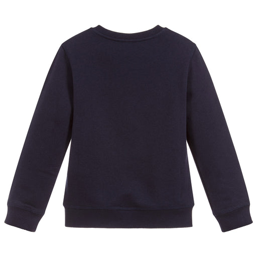 KENZO Navy Blue Cotton Tiger Sweatshirt at BOYS & GIRLS ONLINE