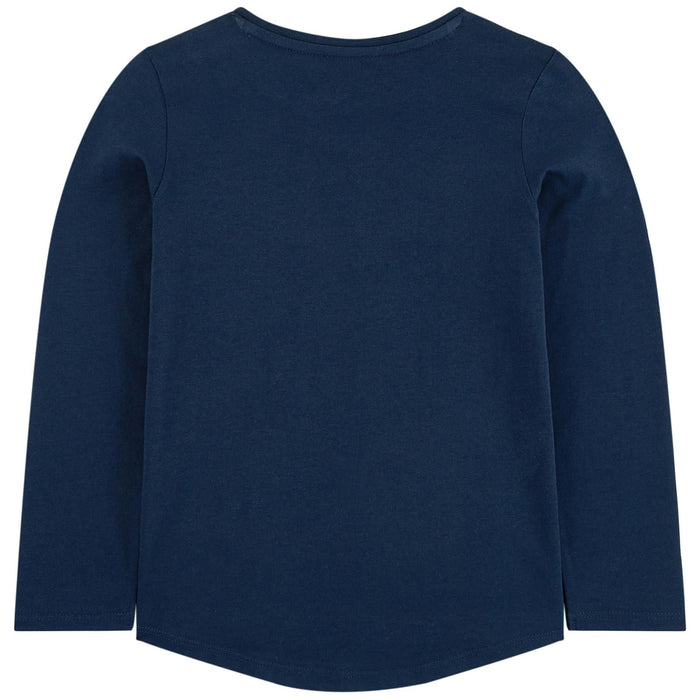 Kenzo Navy Blue Cotton Tiger Top - Kids clothes online | BOYS & GIRLS ONLINE
