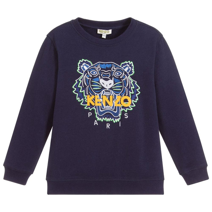 Kenzo Navy Blue Tiger Sweatshirt - Kids clothes online | BOYS & GIRLS ONLINE