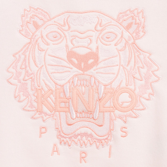 KENZO Pink Cotton Tiger Sweatshirt at BOYS & GIRLS ONLINE