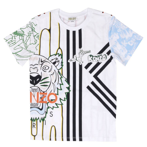 KENZO Tiger Graphic Cotton Benji T-shirt at BOYS & GIRLS ONLINE