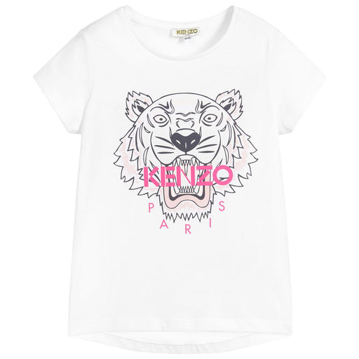 White Cotton Tiger T-Shirt