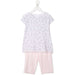 LA PERLA-Girls Floral-Print Two-Piece Pyjamas Set-boysgirlsonline.com