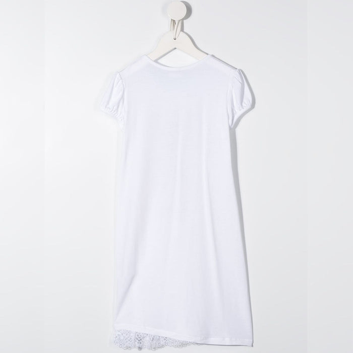 LA PERLA-Girls White Ballerina Print Night Dress-boysgirlsonline.com