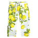 Laura Biagiotti Girls White Trousers with Lemon Print-BOYS & GIRLS ONLINE