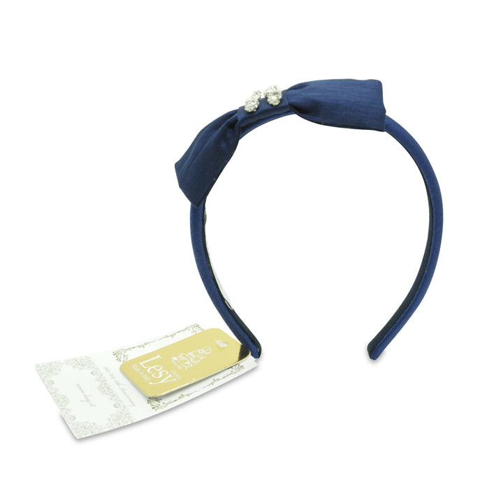 Lesy-Blue Headband with Bow and Crystals-boysgirlsonline.com