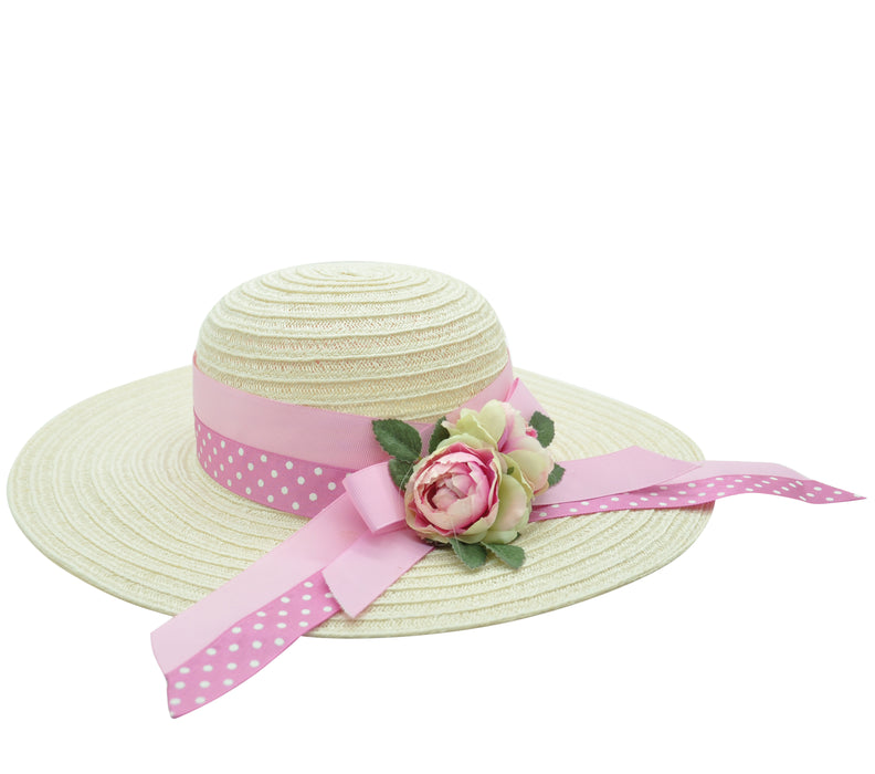 Lesy Girls Straw Hat with Flowers - Kids clothes online | BOYS & GIRLS ONLINE