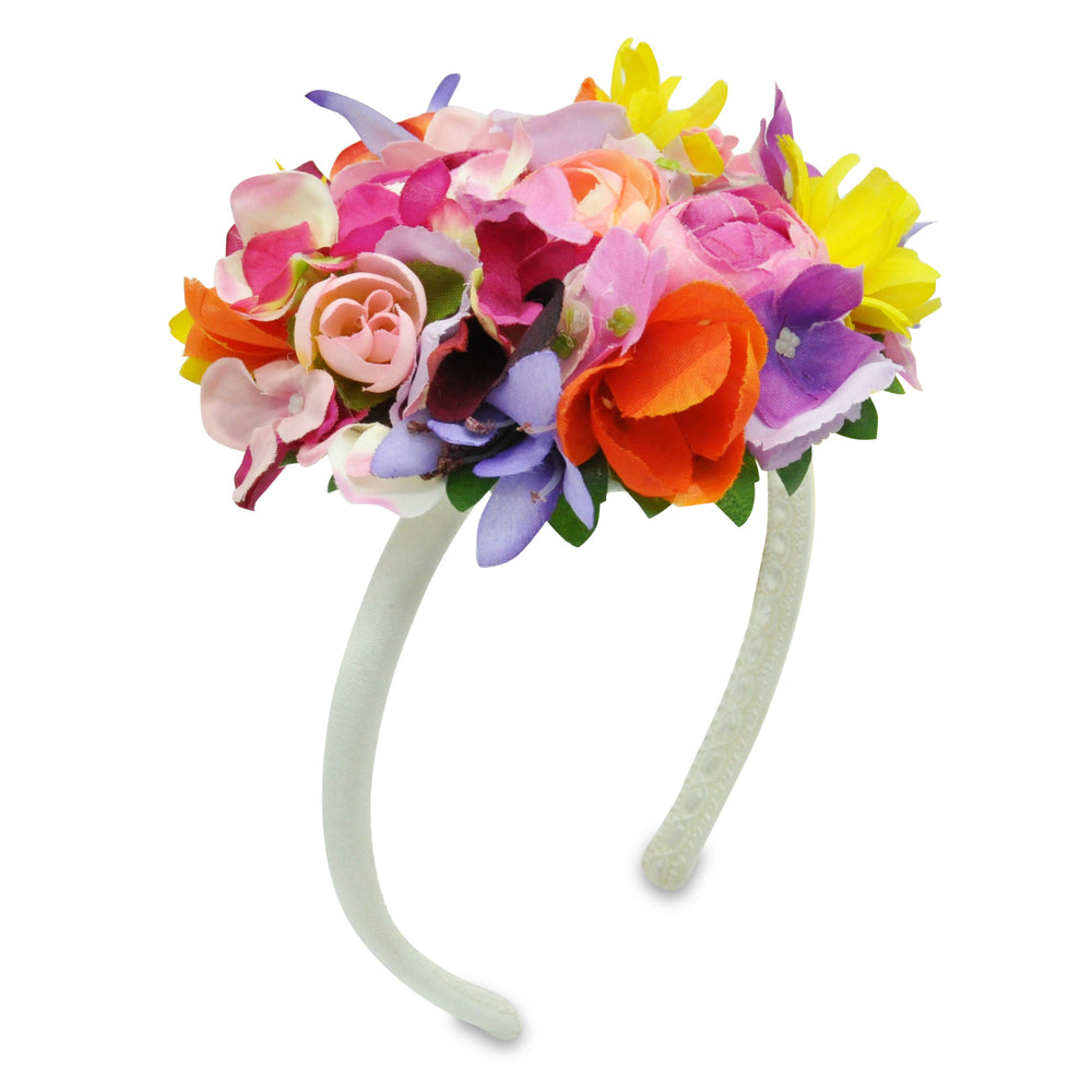Headband with Multicolor Flowers by Lesy at BOYS & GIRLS ONLINE