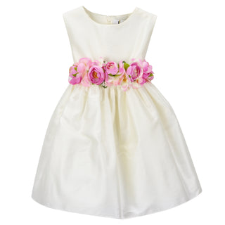 Ivory Silky Luxury Girls Dress