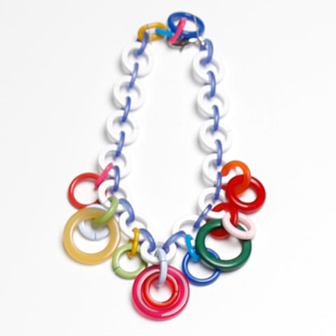 Girls Color Rings Necklace