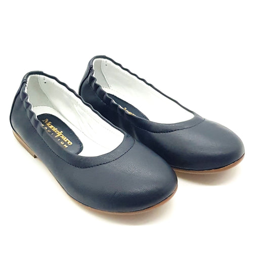Andrea Montelpare-Girls Navy Blue Ballerina Shoes-boysgirlsonline.com