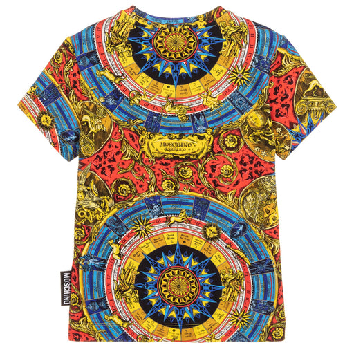 Moschino - Boys Baroque Print Cotton T-Shirt - Kids clothing at BOYS & GIRLS ONLINE
