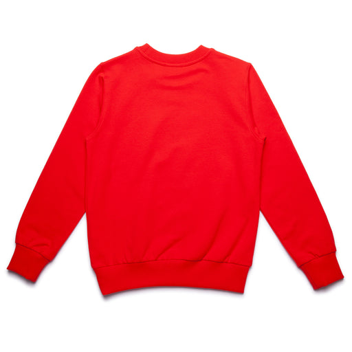 Moschino - Boys Red Cotton Sweatshirt with Tie Print - Kids clothing at BOYS & GIRLS ONLINE