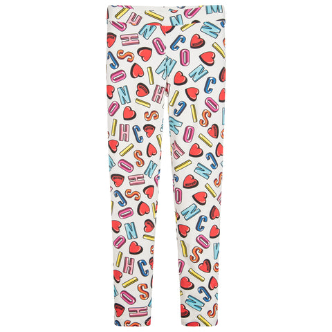 2021fb9fd9546 MOSCHINO - Girls Alphabet Heart Leggings - Leggings Girl at BOYS   GIRLS  ONLINE