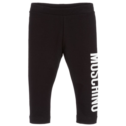 Moschino - Girls Black Cotton Leggings - Kids clothing at BOYS & GIRLS ONLINE
