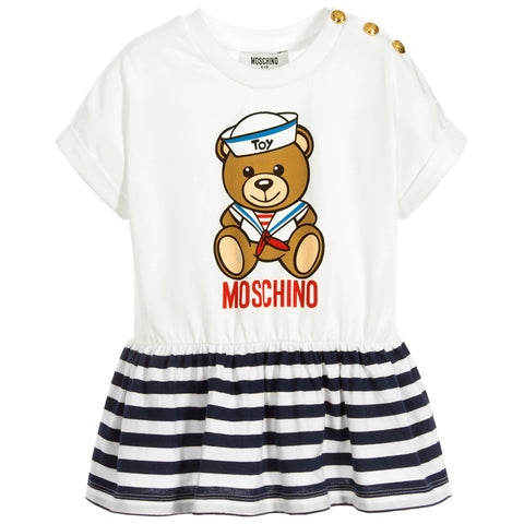 MOSCHINO - Girls Ivory Teddy Toy T-Shirt - T-Shirts Short Sleeve Girl at BOYS & GIRLS ONLINE