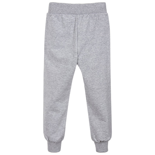 Moschino Grey Cotton Logo Joggers - Kids clothes online | BOYS & GIRLS ONLINE