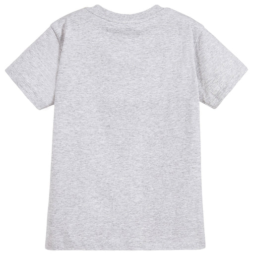 Grey Cotton Logo T-Shirt