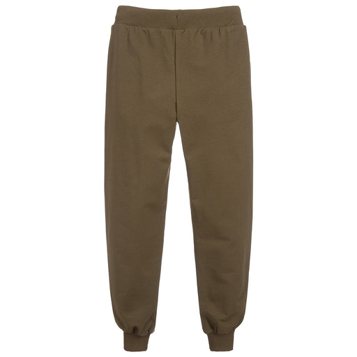 Khaki Green Cotton Logo Joggers